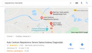 Pozycjonowanie Niepołomice - mapa