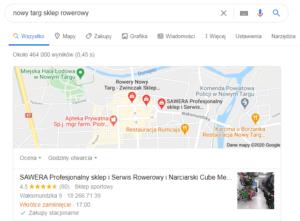 Nowy Targ - pozycjonowanie mapa