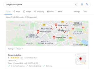 Pozycjonowanie Białystok - mapa