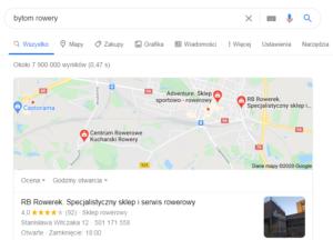 Pozycjonowanie lokalne Bytom - mapa