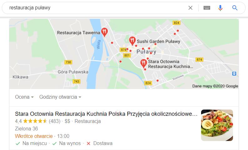 Pozycjonowanie Puławy - mapa