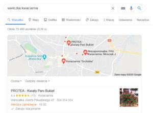 Pozycjonowanie Wieliczka - mapa