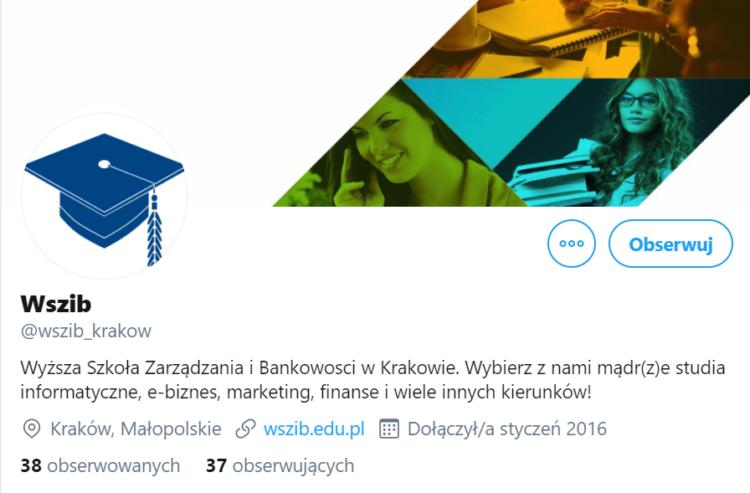 Profil na Twitterze WSZIB