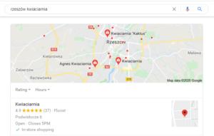 Pozycjonowanie Rzeszów - mapa