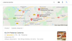 Tarnów pozycjonowanie mapa