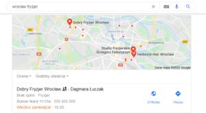 Pozycjonowanie Wrocław - mapa