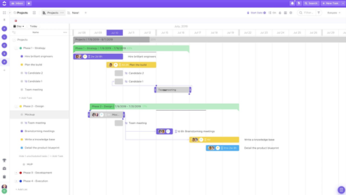 clickup zarządzanie projektami seo