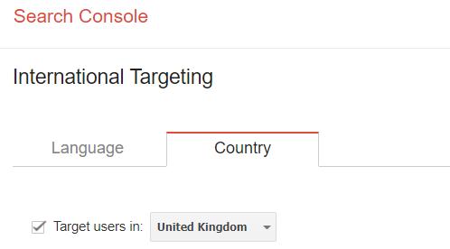 seo in uk international targetting