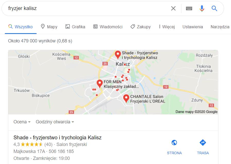 Pozycjonowanie stron Konin - mapa