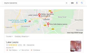 Leszno - pozycjonowanie lokalne mapa