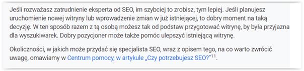 SEO wytyczne Google