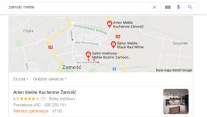 Zamość - pozycjonowanie mapa