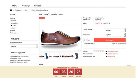 zegar odliczający czas w e-commerce