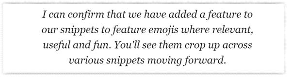 zasady wyświetlania emoji w google