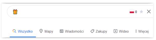 emoji wyniki wyszukiwania google