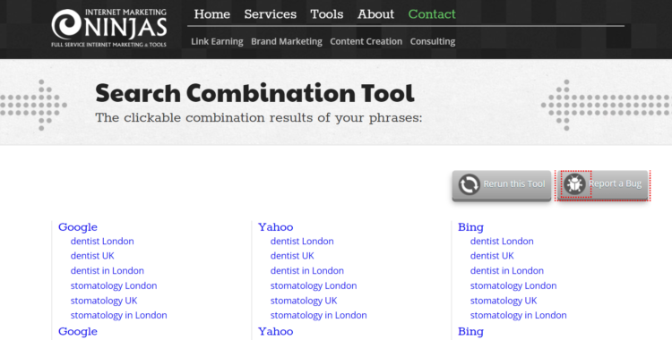 Keyword Research Tool - Keyword Combination