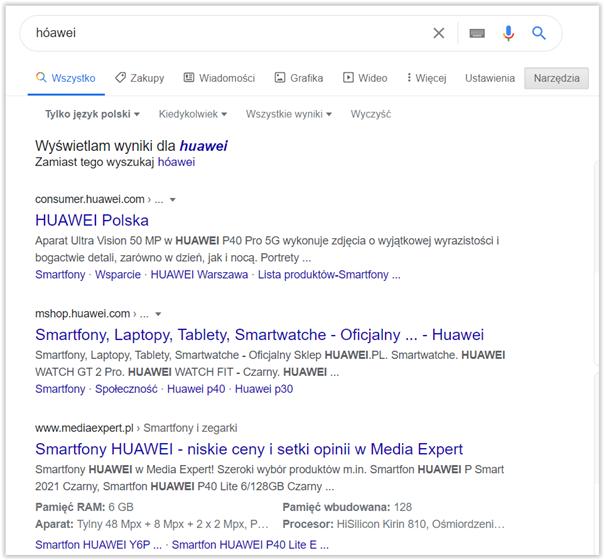 wyszukiwanie w google a wyszukiwarka w sklepie
