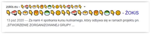 przykład złego zastosowania emoji