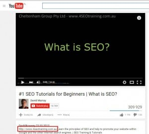 Obtaining external links with value - videos
