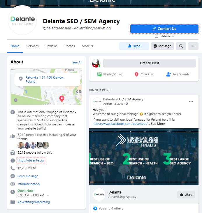 External Links via Social media