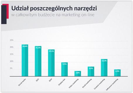 udział w budżecie na marketing online