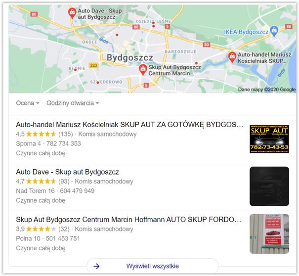 wizytówka google a przeniesienie firmy do internetu