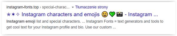 zastosowanie emoji w title