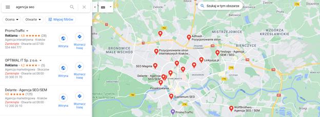 pozycjonowanie lokalne a trendy seo e-commerce 2021