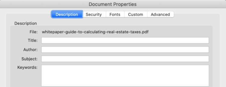seo for pdf files meta title and description