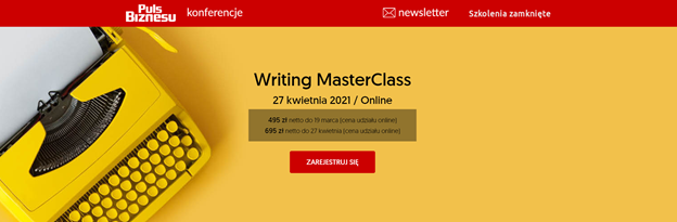 eventy marketingowe 2021 puls biznesu writing masterclass