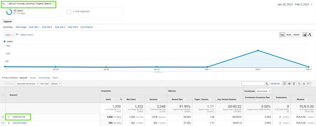 finding traffic bot in Google analytics