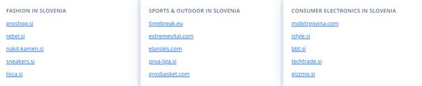 e-commerce słowenia branże