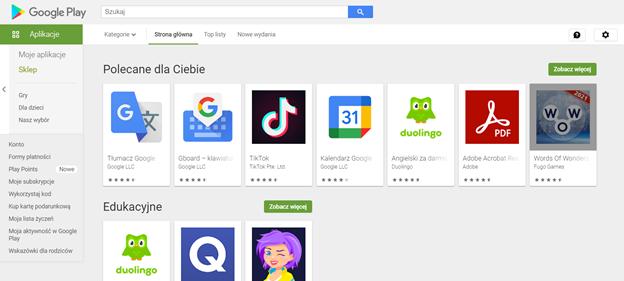 pozycjonowanie w google play