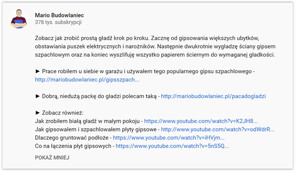 video content a strony usługowe