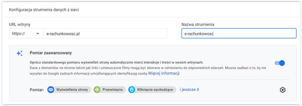 dodanie strony do google analytics
