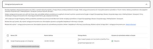 google marchant center reklamy produktowe