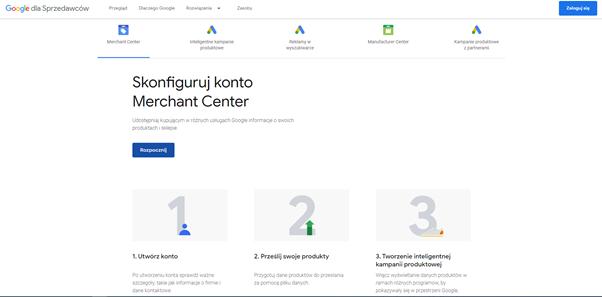 konfiguracja google merchant center