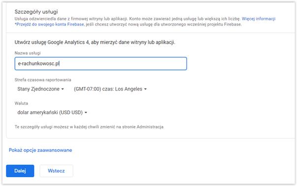 podlaczenie strony do google analytics