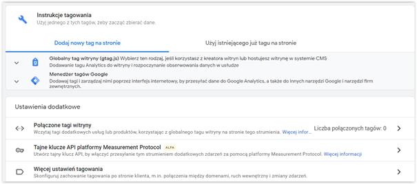 podpięcie google analytics do strony instrukcja