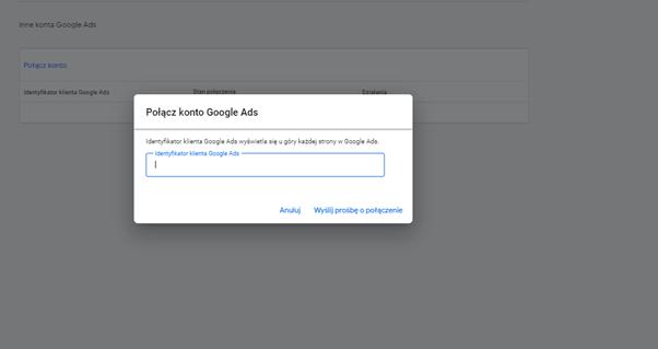 połączenie konta gmc z google ads