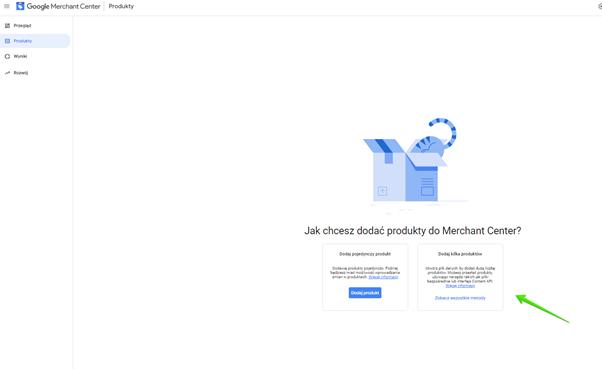przesłanie pliku produktowego google merchant center