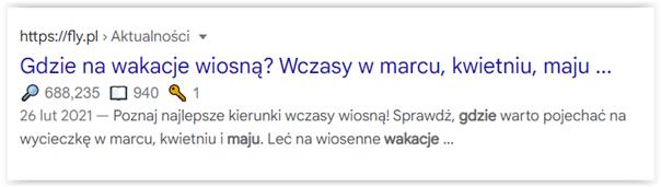 długość title w wynikach wyszukiwania