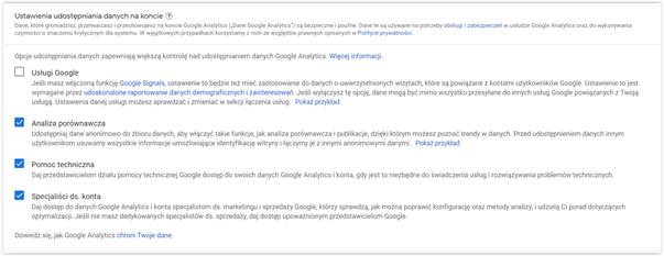 zakładanie konta Google Analytics