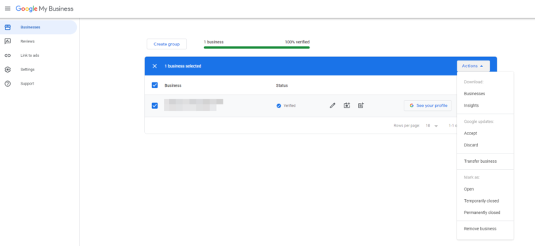 how to delete company from google my business