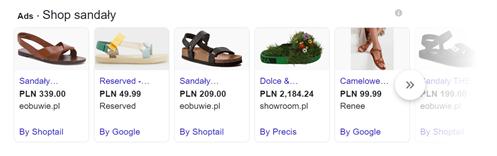 PLA kampanie produktowe Google Ads