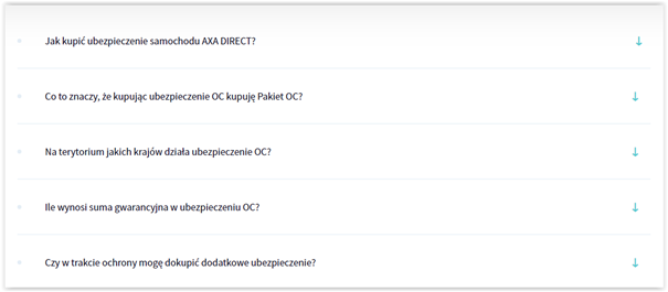 sekcja acoordion a tag noscript