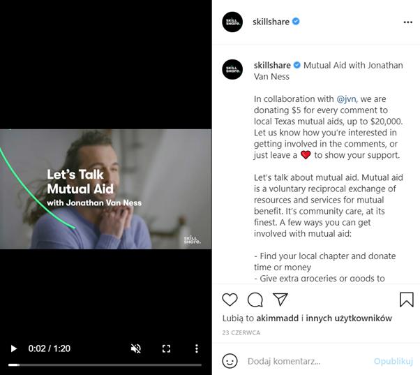 smo przykład post instagram