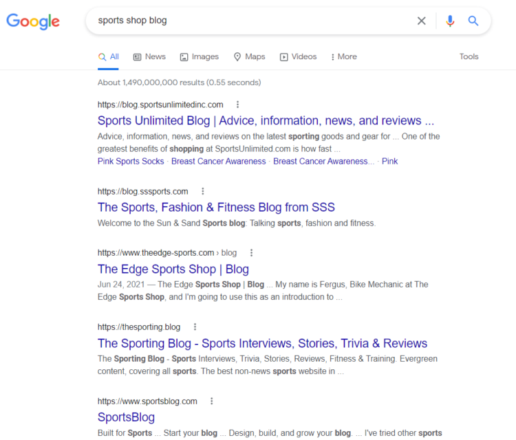 seo for ecommerce blog examples