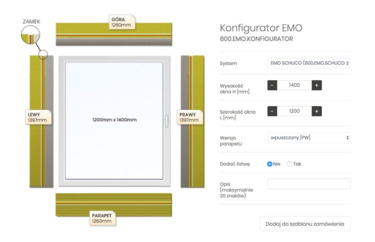 przykład konfiguratora w ecommerce