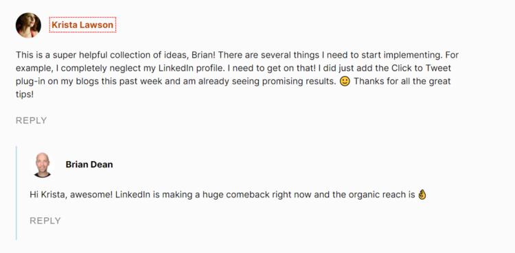 odpowiadanie na komentarzu na blogu